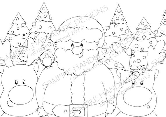 Santa Claus Y Amigos Para Colorear En Navidad Dibujos Para Colorear Imprimibles De Navidad Papá Noel Para Colorear En Colorear Navidad En Digital
