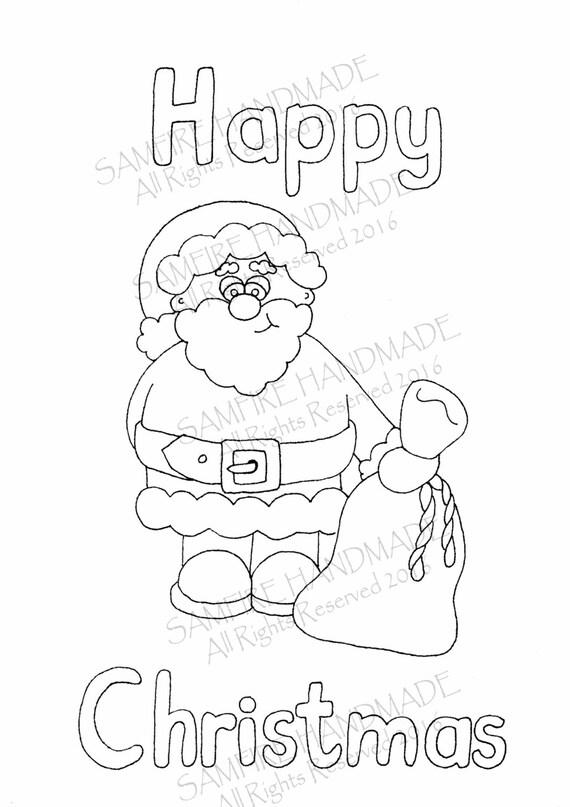 Boże Narodzenie Diy Druku Kolorowanki Na Stronie Adult Etsy