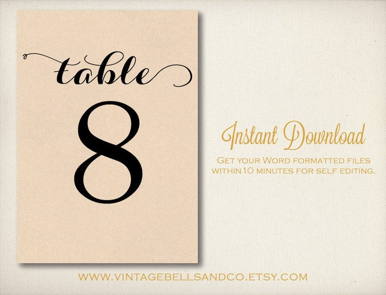 photo relating to Diy Printable Table Numbers called 5\
