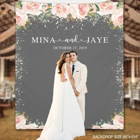 Wedding Backdrop Elegant Blush Roses Custom Backdrop Photo Etsy