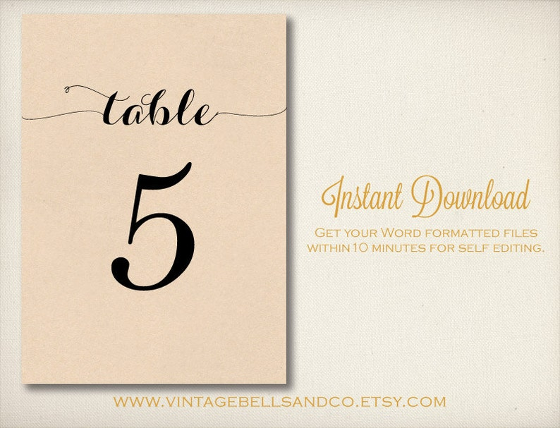 image regarding Diy Printable Table Numbers called Do-it-yourself Printable Desk Quantities Template, Basic Do it yourself Printable, Microsoft Phrase Document, Fast Obtain Templates, Phrase Desk Figures Template (T1)
