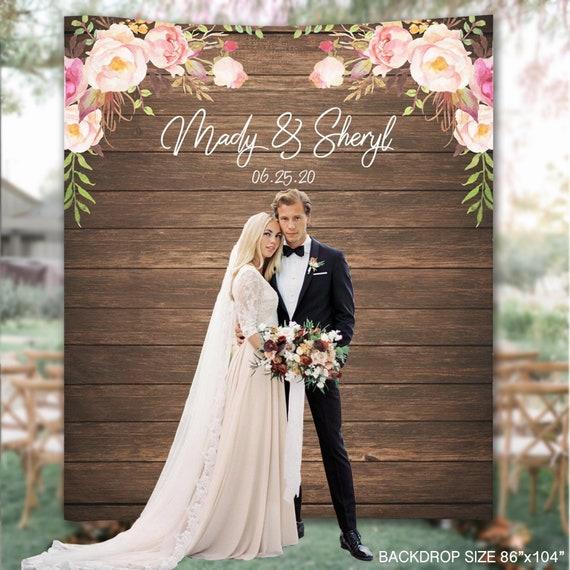 Wedding Backdrop Rustic Blush Floral Wedding Backdrop Photo   Etsy