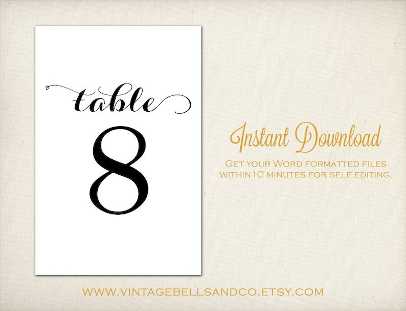 image regarding Diy Printable Table Numbers referred to as 4\