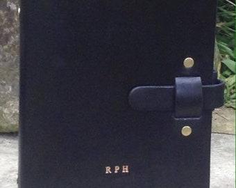 A5 black organiser planner binder journal can be personalised