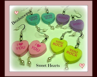 Sharing the love for Sweet Hearts...(Group photo) dangle earrings