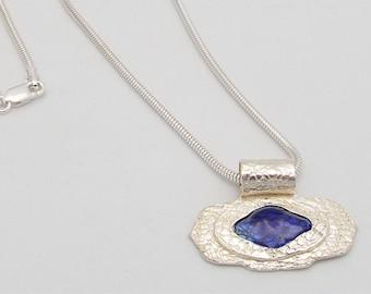 Fine Silver Necklace - Dive into the Blue