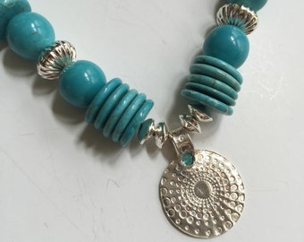 Sophisticated Tribal Stone & Silver Necklace