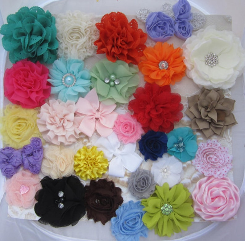 FLOWER GRAB BAG for do it yourself Headbands and Clips  24 image 0