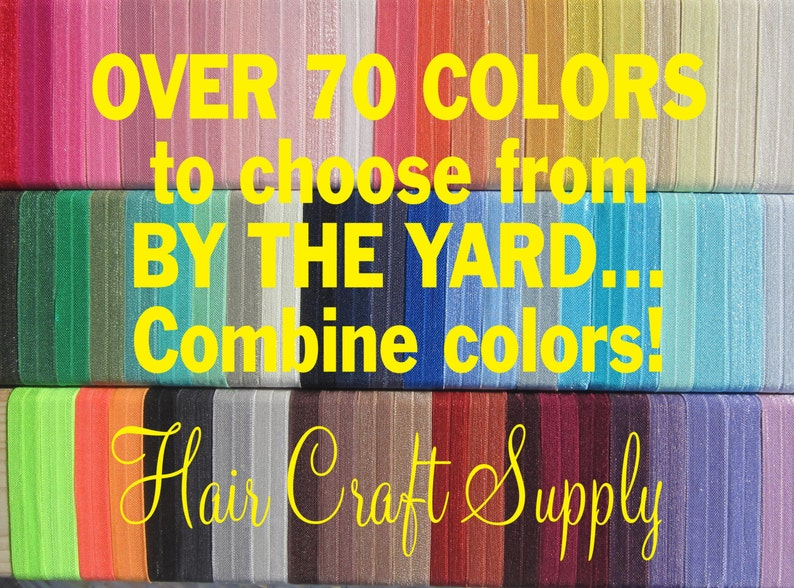 FOE Choose 1 Yard Elastic from assorted colors for Headbands image 0