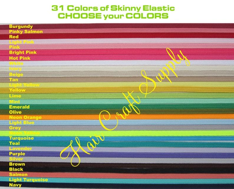 SKINNY ELASTIC  12 Yards Skinny Elastic by the Yard  Choose image 0