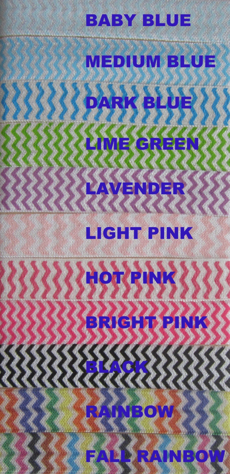 1 yard CHEVRON Prints  choose from 16 colors new lower image 0