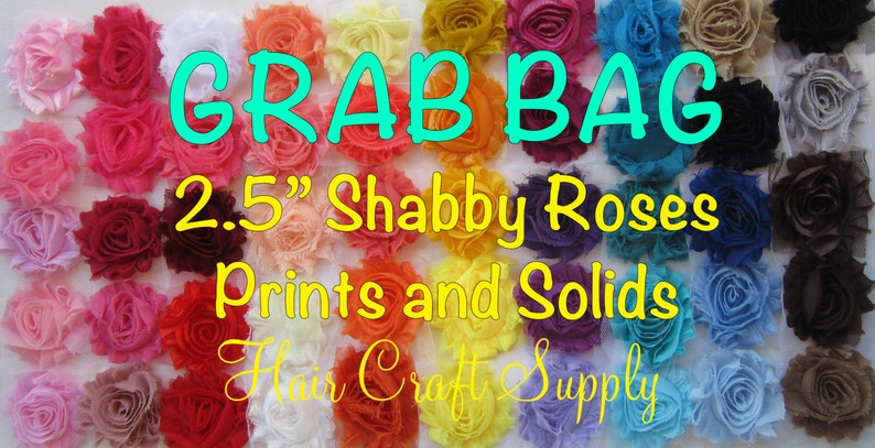 CLEARANCE   50 Shabby Flowers  GRAB BAG  No special image 0