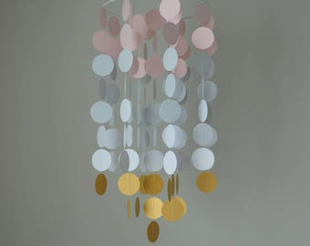 Pink/Gray/White/Gold Chandelier Mobile// Nursery Mobile // Baby Mobile - Choose Your Colors