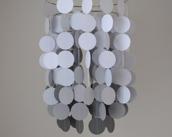 Chandelier Mobile - White and Gray Ombre // Nursery Mobile // Choose your colors