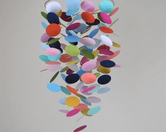 Confetti/Mulitcolor Circle Mobile // Baby Mobile // Nursery Mobile // Choose Your Colors