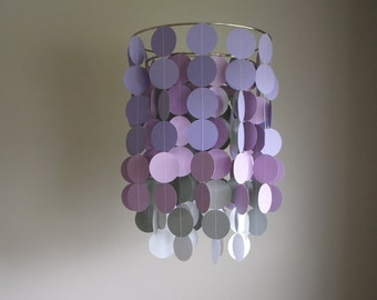 Chandelier Mobile - Purple/Lavender/Gray/White // Nursery Mobile // Choose your colors