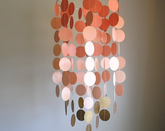 Coral/Peach/Gold Chandelier Mobile// Nursery Mobile // Baby Mobile - Choose Your Colors