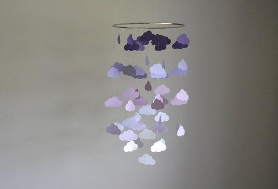 PurpleLavenderGrayWhite  Nursery Mobile  Choose your colors Chandelier Mobile