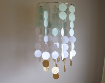 Light Mint Green/White/Gold Chandelier Mobile// Nursery Mobile // Baby Mobile - Choose Your Colors