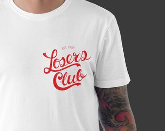40d310c71 Men's T-shirt, Loser's Club Tee, IT T-Shirt, Horror t-shirt, Nerdy T-shirt,  Valentine's Day Gift For Him, Pennywise shirt, Stephen King IT