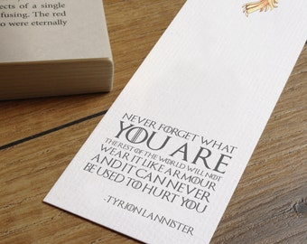Game of Thrones Quote Bookmark - Tyrion Lannister - Best Friend Gift - Friend Birthday Present - Bookworm Gift - George R.R. Martin Quote