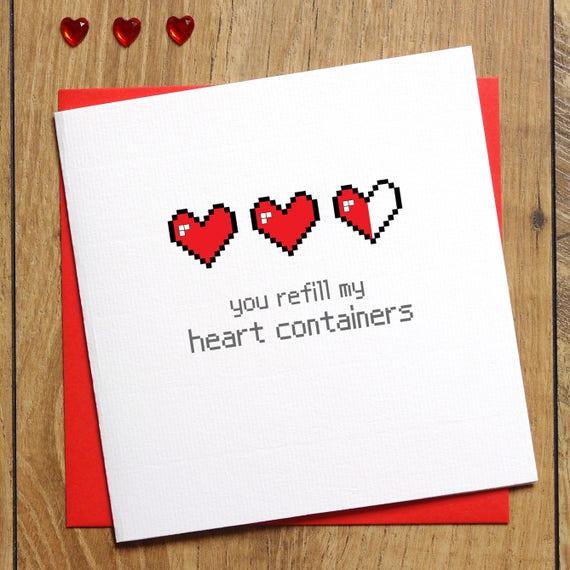 Zelda Valentines Card Valentine S Day Card You Refill My Etsy