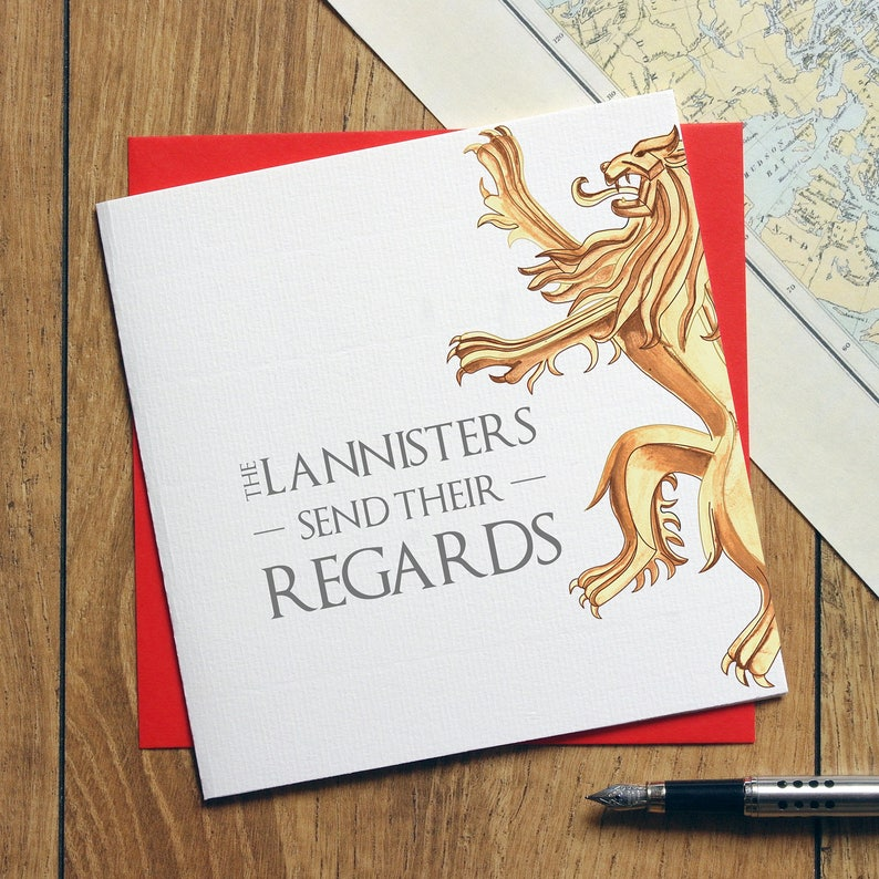 Game Of Thrones Birthday Card Funny The