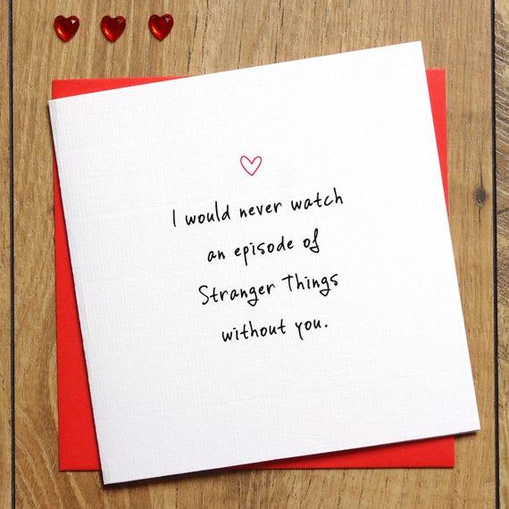 Stranger Things Valentines Card Funny Valentine S Day Etsy