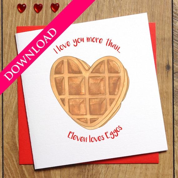Stranger Things Valentines Card Digital Download I Love You Etsy