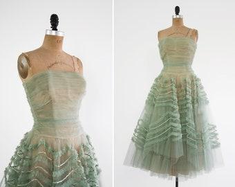 d3a70d061b6 vintage 1950s tulle dress