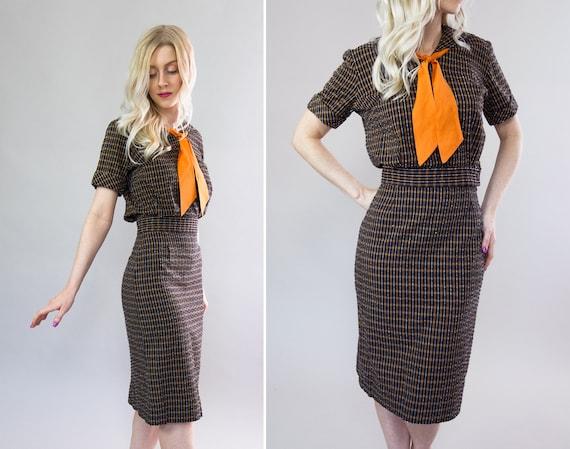 vintage 1960s dress set   sailor collar dress   60s outfit   sailor blouse and skirt