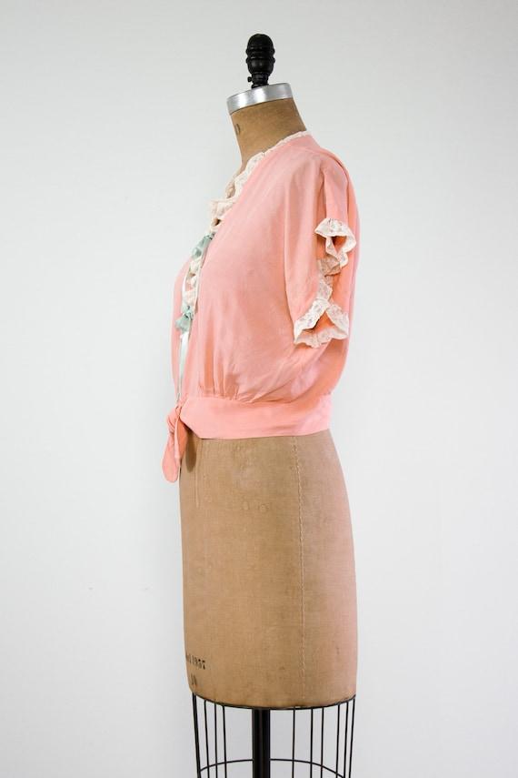 vintage 1940s bed jacket   1930s lingerie   1940s… - image 5