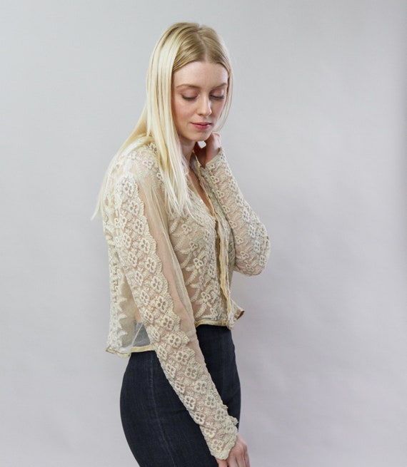 vintage 1900s Victorian blouse | 1910s blouse | E… - image 2
