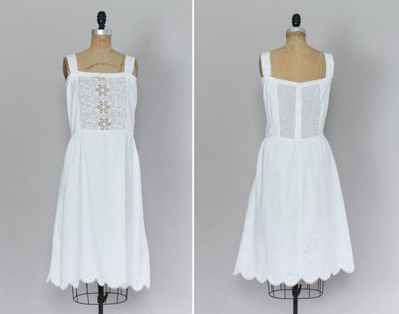 antique 1910s petticoat dress | white cotton Edwra