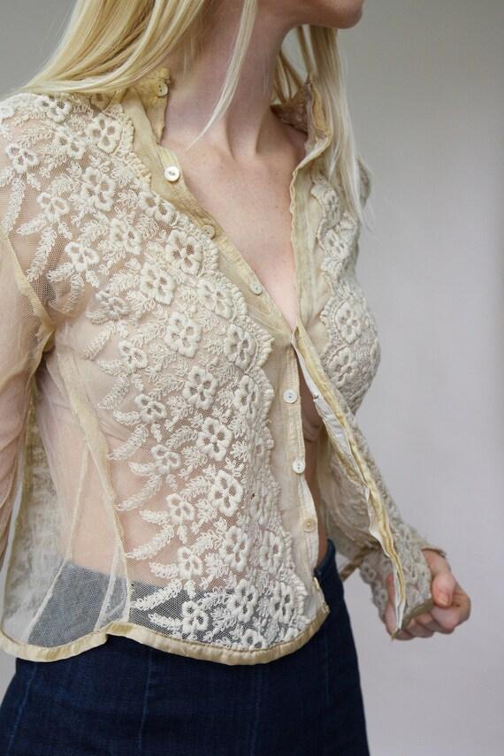 vintage 1900s Victorian blouse | 1910s blouse | E… - image 6