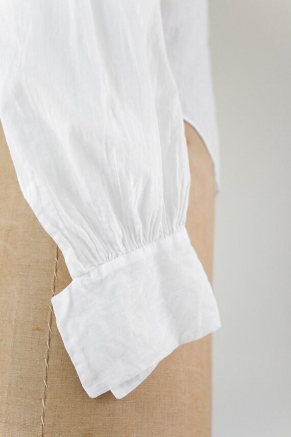 vintage Edwardian cotton blouse | antique white v… - image 7