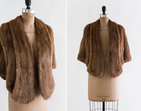 vintage 1940s beaver fur jacket | 40s brown fur st