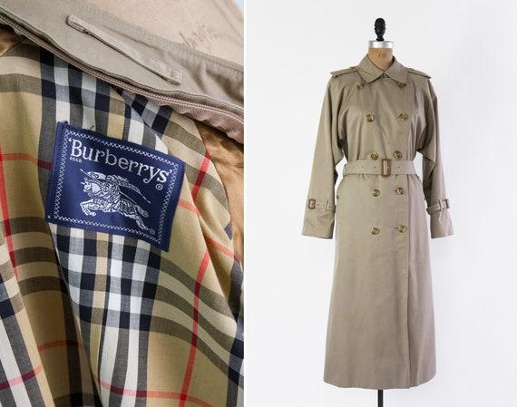 vintage Burberry trench coat | Burberry trenchcoat jacket | khaki nova check raincoat