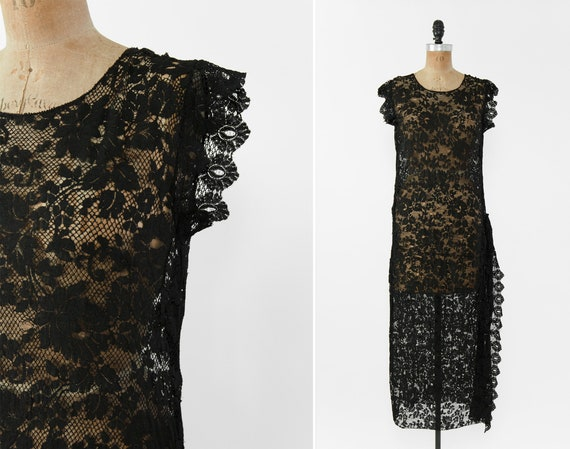 vintage 1920s tabard dress   antique 20s gatsby dr