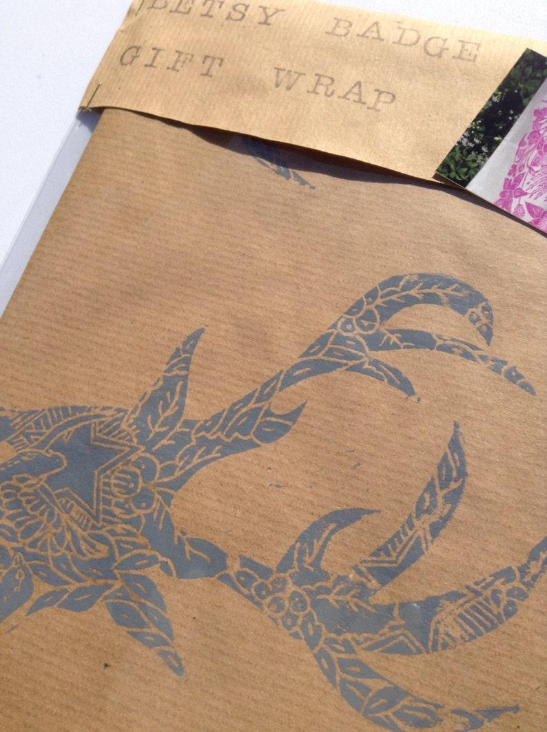Hand Printed Luxury Christmas Gift Wrap