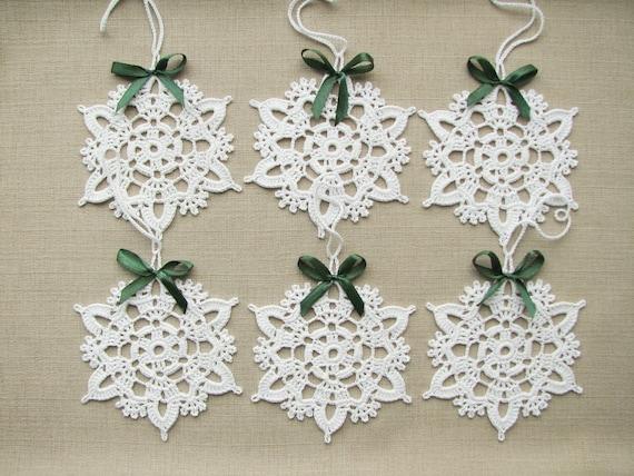 Fiocchi Di Neve Di Carta Modelli : Fiocchi di neve all uncinetto natale decorazioni per etsy
