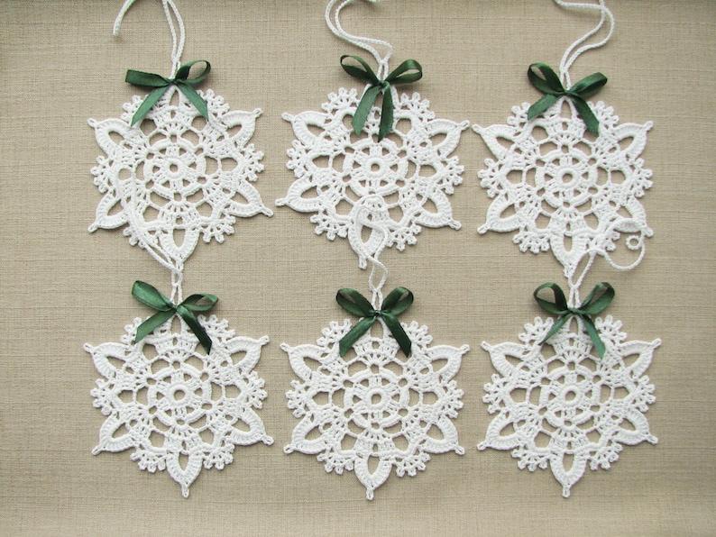 Fiocchi Di Neve Alluncinetto Natale Decorazioni Per Etsy