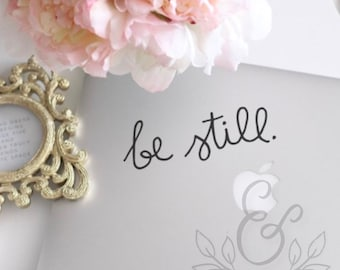 Be Still (2), Be Still Decal, Be Still Sticker, Christian, Religious, Laptop Stickers, Laptop Decal, Macbook Decal, Car Decal, Vinyl Decal