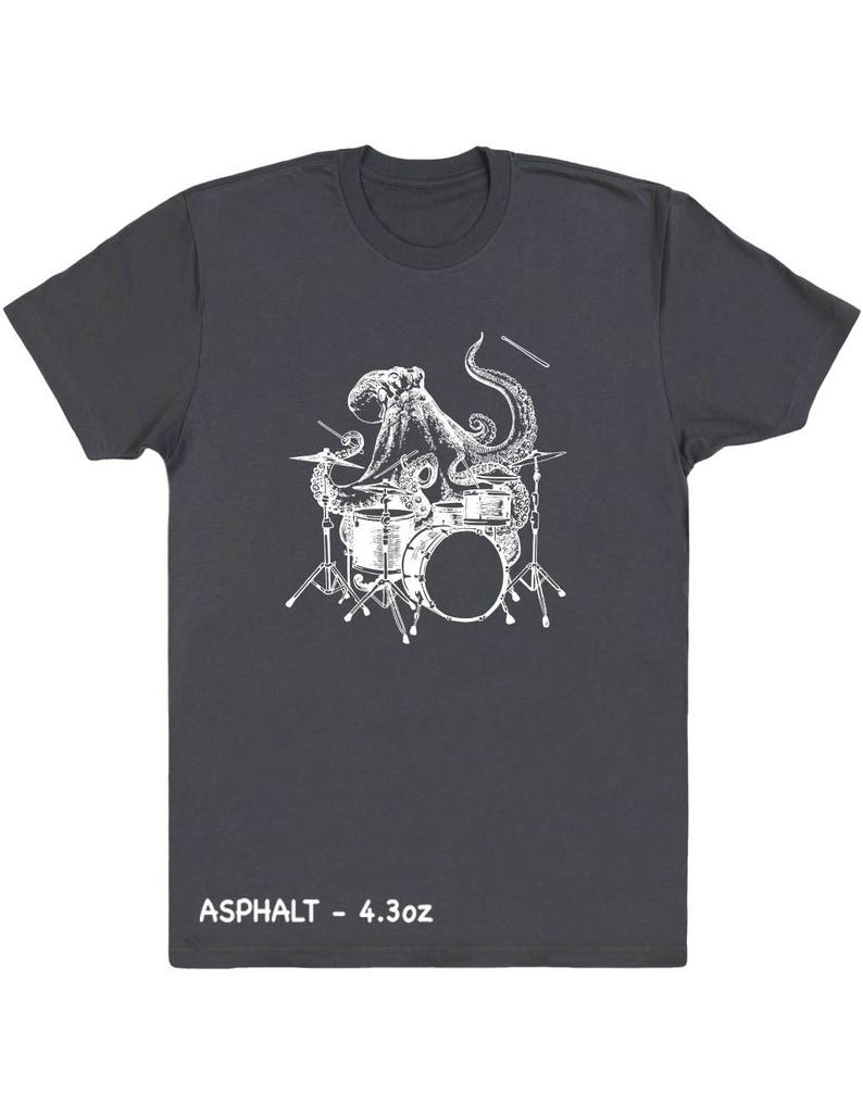 Octopus Playing Drums Men's T-Shirt Gift For Him Octopus image 0