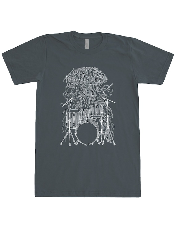 Jellyfish Playing Drums Unisex T Shirt Gift For Musician