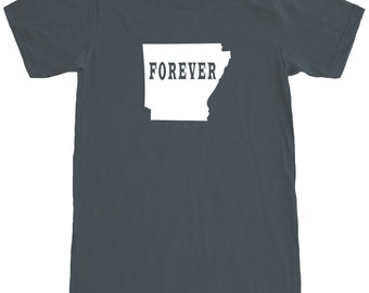 Arkansas Forever T-Shirt Men's Cotton T Shirt Short Sleeve Tee SEEMBO