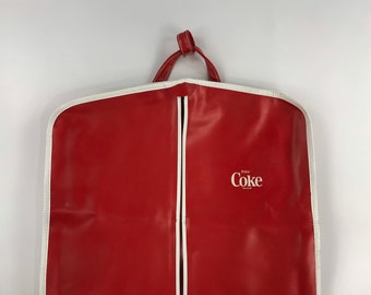 9c07bc84d1 New Old Stock Enjoy Coke Coca Cola suit dress travel bag vintage sack  advertising collectible red white 80s 1980s 90s 1990s pleather