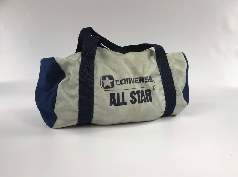 a6d8e9cdab Converse All Star gym bag vintage silver blue travel carry on
