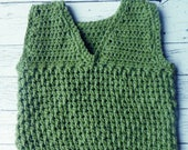 Crochet toddler boy vest 3T 4T PDF instant download simple textured vest present gift MI designer