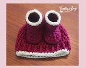 Newborn Baby Hat Bootie Pattern Set Easy PDF Instant Download Gift Present Baby Shower